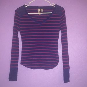 Blue and Pink stripped long sleeve